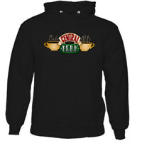Central Perks Mens Friends Inspired Coffee Shop Logo Hoodie American Sitcom Top