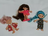 Ideal Flatsy Doll Lot of 3 Vintage 1969. With clothing 5 inch *READ DESC*