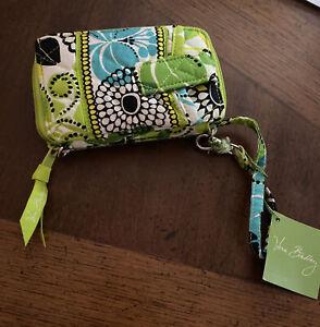 NWT, Vera Bradley wristlet, lime's up, colorful, flower pattern, wristlet
