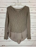Deletta Anthropologie Women's XS Extra Small Beige Cute Soft Fall Sweater Top
