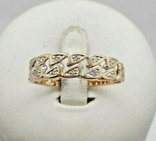 Ring mit Brillanten 0,05 ct. 14K 585er Gelbgold Gr.: 62 -hübsches Design-