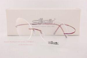 New Silhouette Eyeglass Frames TMA Must Collection 5515 CS 3540 Mauve Titan  52