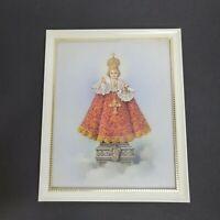 Vintage Infant of Prague Framed Print Wall Art Decor Jesus Catholic Religious