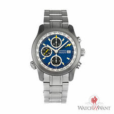 Bremont World Timer Globemaster Steel Watch Blue dial on Bracelet ALT1-WT/BL/BR