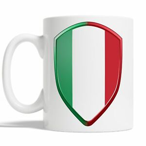 Italian Flag Mug Coffee Cup Gift Idea Italy Rugby Sports 6 Nations Badge JA117