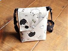 Sheep, Canvas Cross Body Bag. Handmade.