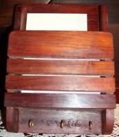 TRI COURRIER  MURAL artisanal en bois avec accroche clés ou accroche torchons*