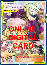 1X Cynthia & Caitlin 228/236 Cosmic Eclipse Pokemon Online Digital Card