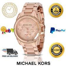 Nuevo Micheal Kors MK5263 Blair Oro Rosa Cronógrafo Reloj de Mujer Dama Parker
