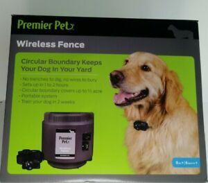 Premier Pet Wireless Fence Set GIFOO-16917 Brand New Sealed