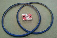 TWO(2) DURO 700x25C BICYCLE TIRES BLUE WALL & 2 TUBES, ROAD FIXIE TRAC BIKES