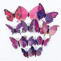 12 PCs art décalque maison autocollant Wall Stickers 3D Butterfly sticker Decor