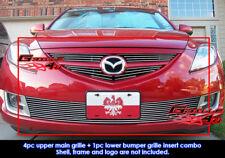 Fits Mazda 6 Billet Grille Combo Insert 09-10 2010