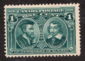 Sc 97 - Canada - 1908 - 1 Cent -  MH  Fine -  superfleas - cv$15