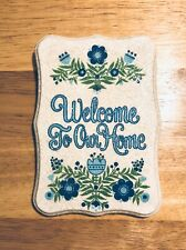 Vintage Glitter Welcome Wall Plaque