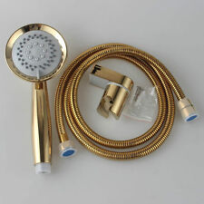 Gold Multifunction Function Shower Head&Stainless Steel Hose With Bracket Holder