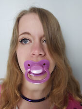 Adult Pacifier Soother Dummy from the dotty diaper company Purple with Sparkles