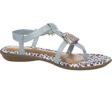 Sandali e scarpe casual blu per il mare da donna 100% pelle