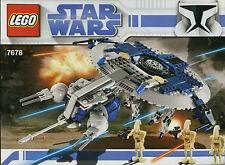 LEGO STAR WARS DROID GUNSHIP SET 7678 ALL 3 MINIFIGURES 100% COMPLETE GUARANTEE