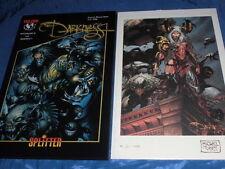 COMIC DRUCK + Buch , Witchblade + Darkness , Messe Ausgabe , limitiert / Nr. 869