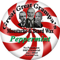 Peppermint scent - Moustache & Beard Wax - Mild, Medium or Extreme Hold