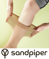 *Sandpiper Extra Wide Hosiery FeatherGrip Warm Knee High Natural