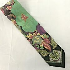 Fratelli Moda Neck Tie  100% Silk Made in Italy Beautiful Art deco Floral