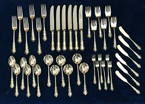 GEORGIAN ROSE by Reed & Barton, 1941 Sterling Silver Flatware Set 42 Pieces