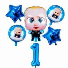 6pcs baby boss  Balloons foil hellium Party Supplies, Birthday Decor, Number 1