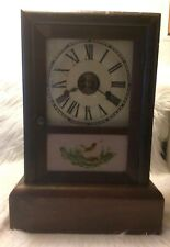Seth Thomas Ogee Box Clock, 30 hour Spring Clock, Wooden Case