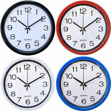 Round Wall Clock Bedroom Kitchen Clocks Quartz NEW Silent Sweep Movement Home