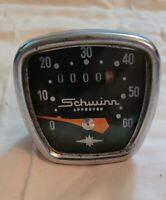 Vintage Schwinn Stingray Krate Banana Seat Muscle Bike Chrome Speedometer Head