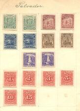 El Salvador  lot of  imperforate  stamps  16       KL1130