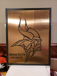 ULTRA RARE Minnesota Vikings 1960's 1 of 1 Front Office Metal Sign, AWESOME!!