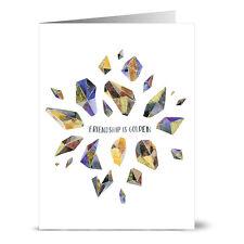 24 Note Cards - Friendship Is Golden - Lilac Purple Envs
