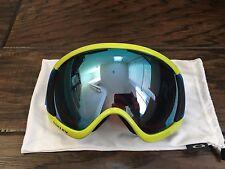 Oakley Canopy Retina Blue Yellow Prizm Sapphire Iridium Ski Snowboard Goggles