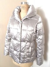 N WOTAG LANDS'END DOWN GRAY SHIMMER JACKET 80% DOWN/ 20% FEATHERS SIZE M 10-12