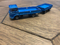 Majorette Saviem Truck with Trailer Blue France DieCast Scale Model 1/100