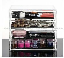 Acrylic Transparent Cosmetic Make up Organiser Holder with 4 Drawers