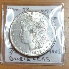 (01) 1878 7/8 TF Morgan Silver Dollar, Vam-33, 7/# Tailfeathers, Double Legs - A