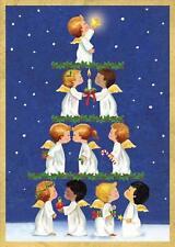 Caspari Boxed Christmas Cards, Angel Tree, Box of 16 (86117)