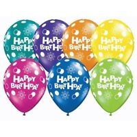 "12"" Mix Printed Happy Birthday Colour Latex Balloons party & decorations baloonS"