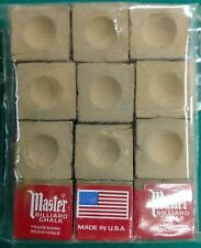 Pool Cue ~Tip Chalk ~ MASTER ~ color:  GOLD ~ 12 pieces