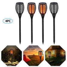 4× 96 LED Solar Torch Light Walkway Flickering Dancing Flame Outdoor Garden Lamp