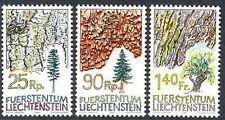 1986 LIECHTENSTEIN N°854/856** FLORE ARBRES SAPIN EPICEA CHENE