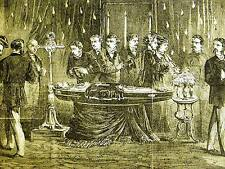 Becker VIEWING OPEN COFFIN of D'ARCY M'GEE in Montreal 1868 Antique Print Matted