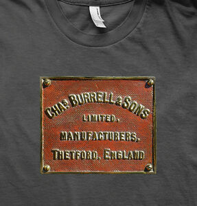 BURRELL TRACTION ENGINE LIVE STEAM EMBLEM T SHIRT