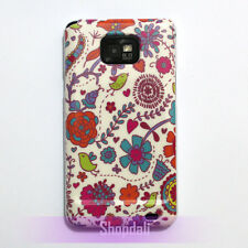 Cute Bird Flower Pattern Design Hard Case Cover Skin for Samsung Galaxy S2 i9100