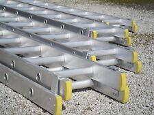 """Alloy Double Extending ladders, Certified BS EN131 Trade Duty, """"D"""" shape rungs."""