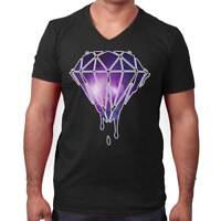 Bleeding Melting Galaxy Cool Shirt Cute Edgy Diamond Designer V-Neck T Shirt